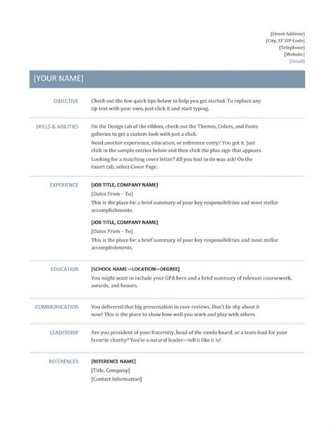 microsoft office 365 sle resume templates may 2013