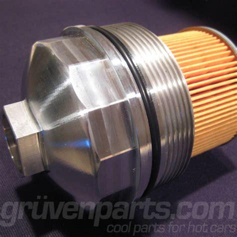 audi vw    cylinder billet oil filter housing