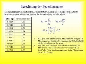 Periodendauer Berechnen : berechnung der federkonstante ppt video online herunterladen ~ Themetempest.com Abrechnung