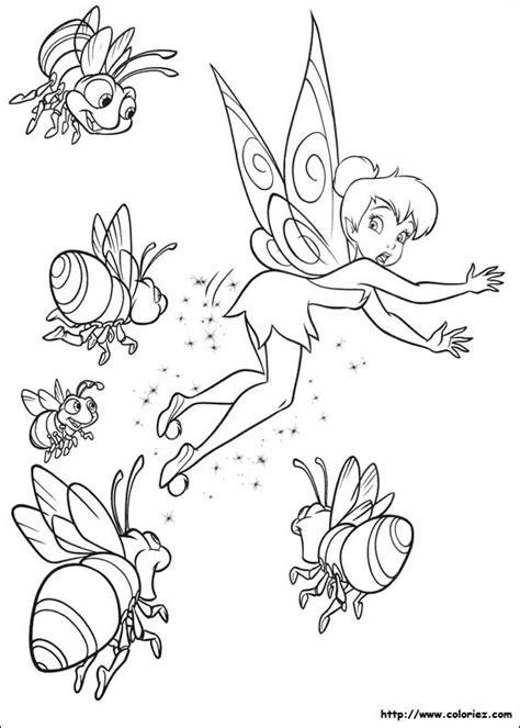 coloriage fee clochette sevade des abeilles