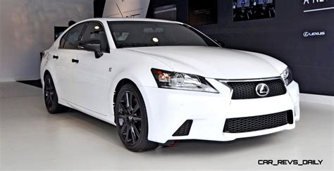 lexus gs crafted  aces style mood  bright white  gloss black