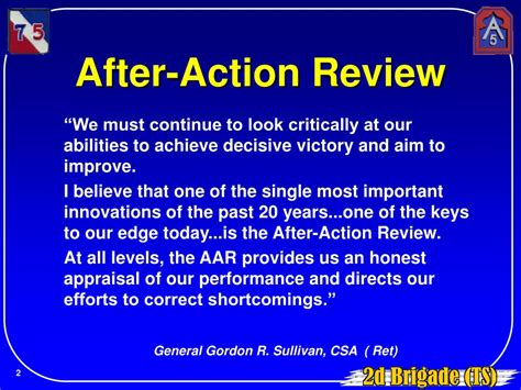 after action review ppt after review aar powerpoint presentation id 148366