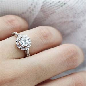 brilliant cz halo women39s wedding ring 18k by With wedding rings for women pinterest