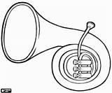 Blasinstrument Waldhorn Instrument Hoorn Viento Instrumento Malvorlagen Trompa Een Kleurplaat Sopro Kolorowanki Ausmalbilder Coloring Wind Horn Pintar Blaasinstrument Ein Intrument sketch template