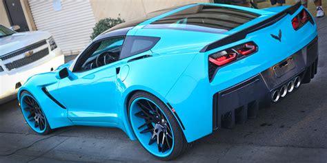 widebody corvette stingray  forgiato wheels big rims