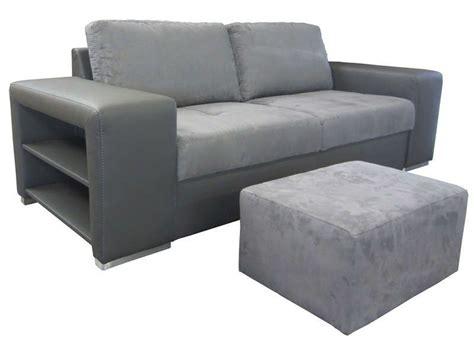 canape sempre canapé fixe 3 places pouf sempre coloris gris