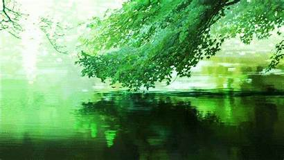 Anime Scenery Garden Rain Nature Words Trees