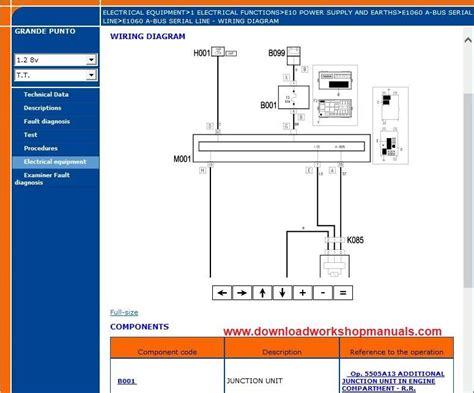 Fiat Punto Electrical Wiring Diagram by Fiat Grande Punto Workshop Repair Manual