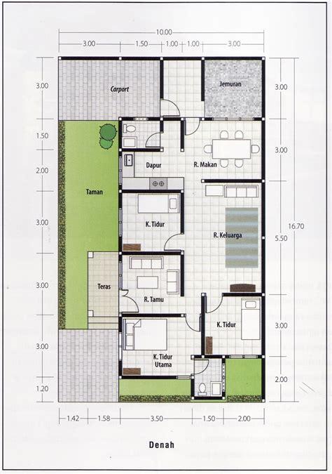 Gambar Rumah Sederhana Dengan 3 Kamar Tidur Denah Rumah 3 Kamar