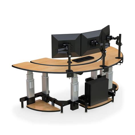 Ceiling Monitor Mount by Semi Circle Standing Desk Afcindustries