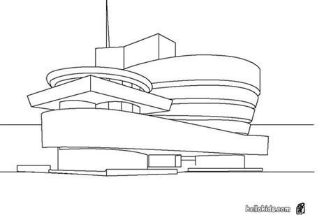 Guggenheim Museum Coloring Pages