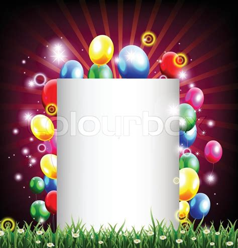 vector illustration of birthday background with place for