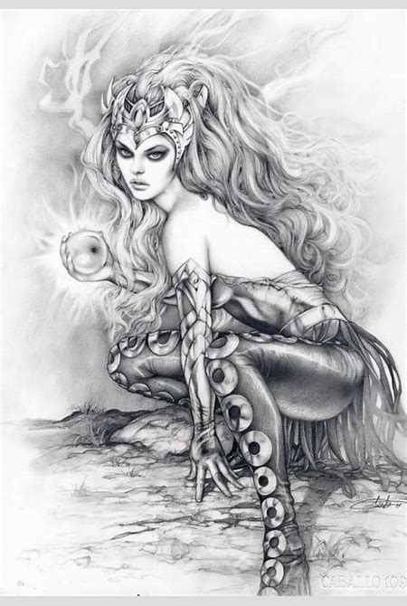 Enchantress by Arantza , in Kirk Dilbeck's aa- For Sale Villians!!! Comic Art Gallery Room