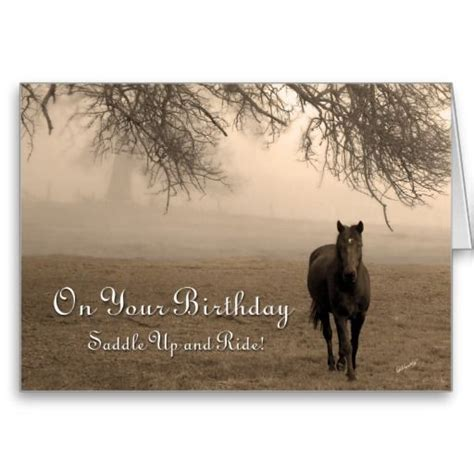 happy birthday horse images happy birthday horse standard business greeting card  zazzle