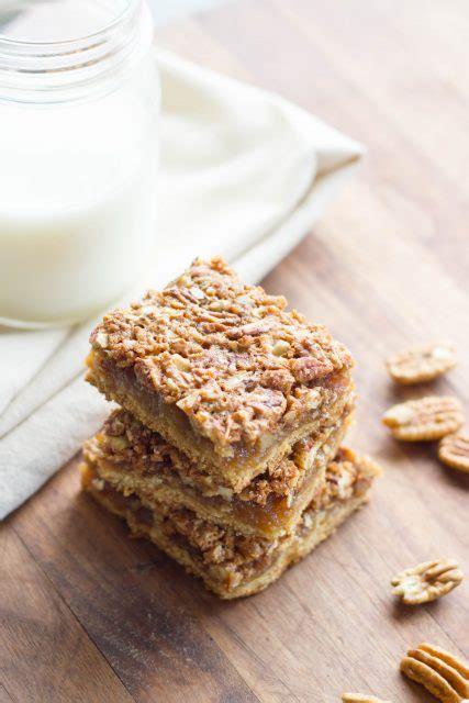 chewy pecan pie bars kendras treats