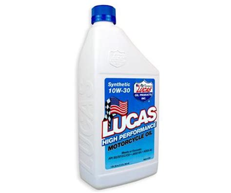 Lucas High Performance Motorcycle Oil Synthetic 10w30