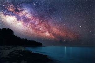 Galaxy Lights by Incredible Photograph Of The Milky Way Rising Over The Sea
