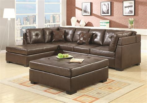 Furniture Best Choice Of Brown Leather Sectional With