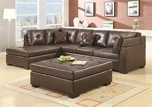 Furniture best choice of brown leather sectional with for Sectional sofa set up