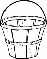 Bucket Drawing Wooden Clipart Grain Clipartmag sketch template
