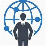 Icon Global Leadership Communication Icons Businessman Business