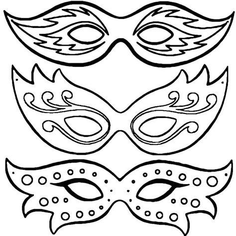 Coloriage Masques De Carnaval A Imprimer Gratuit