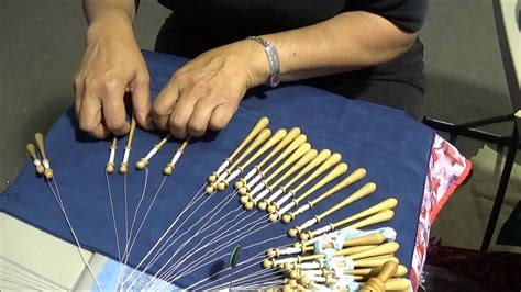 bobbin lace making demonstration  cal fair october