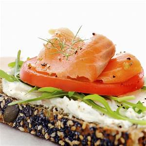Smoked Salmon and Cream Cheese Open Sandwich - ACT ...