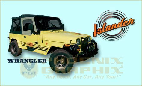jeep islander decal 1989 1990 jeep wrangler islander yj decals stripes kit