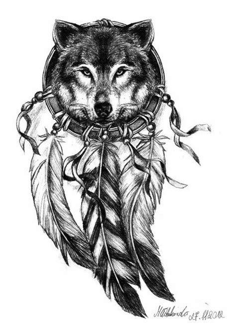 Hand Drawn Wolf Head