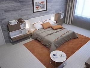 Bilder von schlafzimmer 3d grafik innenarchitektur bett for Teppich schlafzimmer