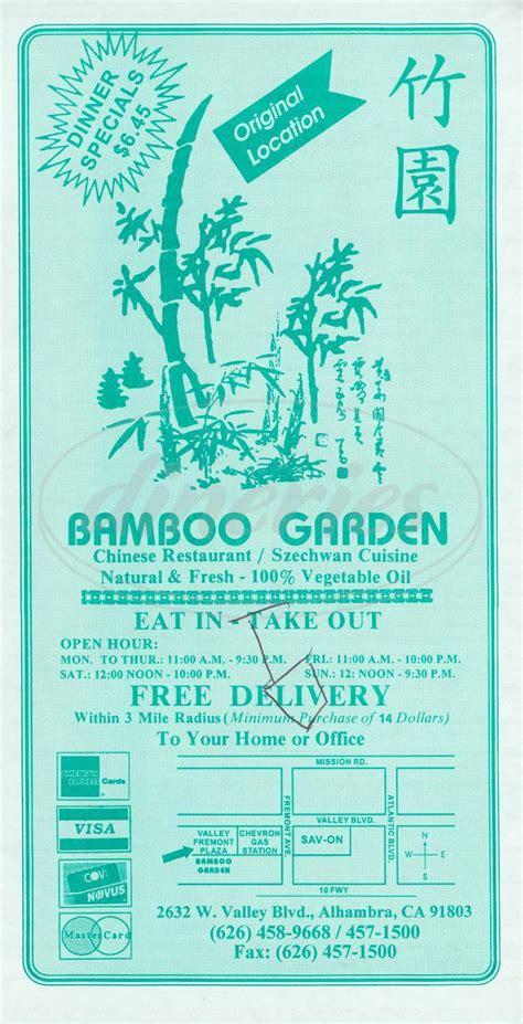 bamboo garden menu bamboo garden menu alhambra dineries