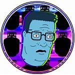 Vaporwave Profile Icons Inspired Transparent Dank Hill