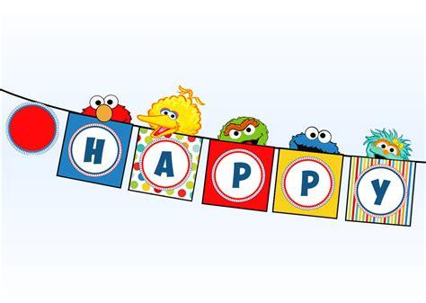 sesam street clipart happy birthday pencil   color