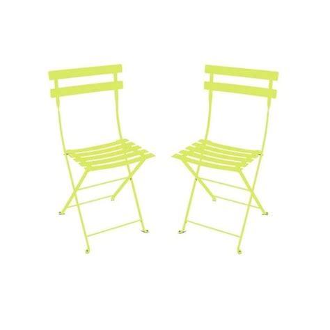 chaise pliante métal lot de 2 contemporain chaise de chaise pliante bistro en métal verveine fermob lot