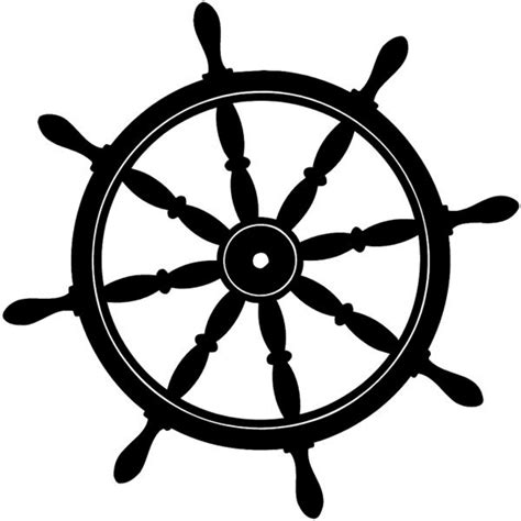 Boat Steering Wheel Clipart Free by Sailboat Clipart Ship Steering Wheel Pencil And In Color