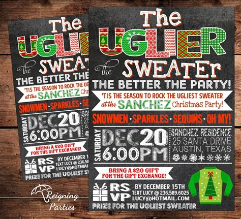 pin  ugly sweater party