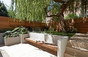 Moderne Gartengestaltung Mit Holz : senkgarten mit sitzplatz gestalten 50 moderne ideen ~ Eleganceandgraceweddings.com Haus und Dekorationen