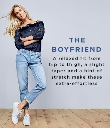 high waist boyfriend loft