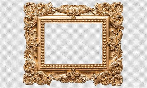 No Frames Picture 3 Piece Modern Cheap Home Decor Wall: Baroque Golden Picture Frame PNG