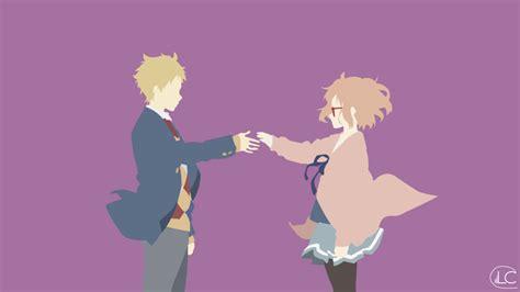 Minimalistic Anime Wallpapers - kyoukai no kanata minimalist anime wallpaper by lucifer012