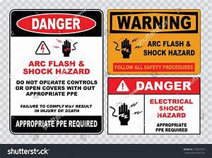high voltage sign electrical safety sign stock vector With electrical safety procedures