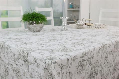 Tischdecke Abwaschbar Hochwertig by Abwaschbare Tischdecke Grau Wei 223 Blume Breite 138 Cm