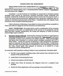 simple consulting agreement samples 6 examples in word pdf With consulting fee agreement template