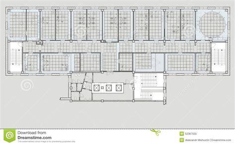 plan des bureaux immeuble de bureaux de plan illustration stock