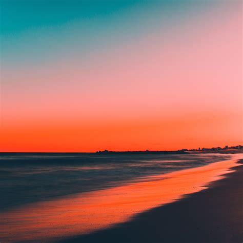 nu sunset beach fall night sea nature wallpaper