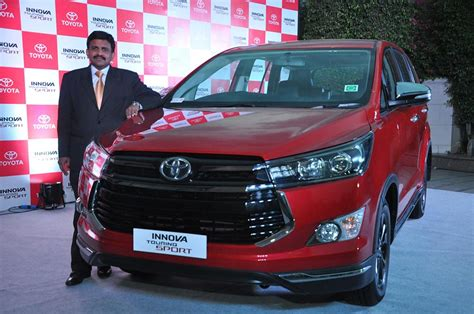 toyota innova touring sport launched  india  inr