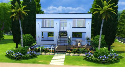 2 Simple Modern Homes With Simple Modern Furnishings by The Sims 4 How To Build A Simple Modern House