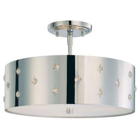 george kovacs bling bling 3 light chrome ceiling semi