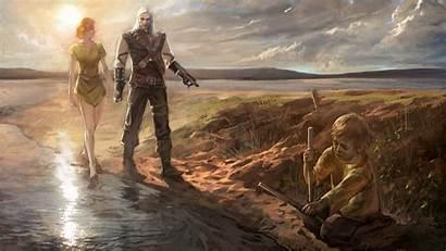 Geralt Rivia Witcher Games Wallpapers Mobile Desktop